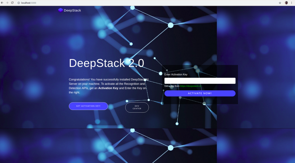 Deepstack Activation Screen