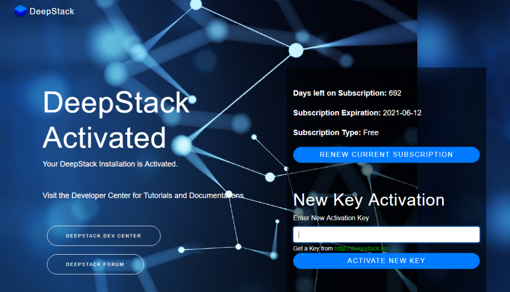 Deepstack Activation Complete and Registation info - Dockeril.net