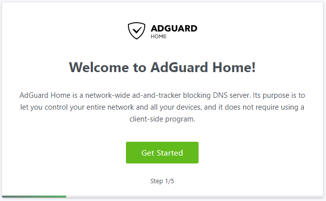 AdGuard Home Setup Wizard - Dockeril