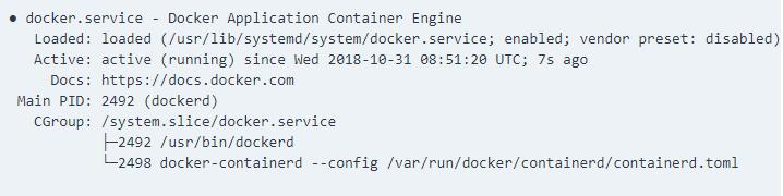Docker Service Status - Dockeril.net