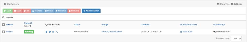 Dozzle Log Viewer - dockeril.net